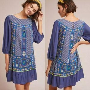 Anthropologie Akemi + Kin Patna Embroidered Dress